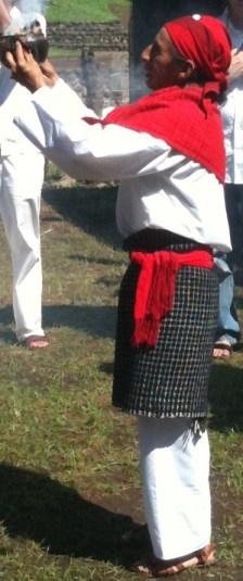 Maya Elder blessing Izapa